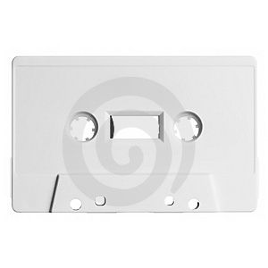 Old Audio Cassette Isolated On White Royalty Free Stock Image - Image: 8851626