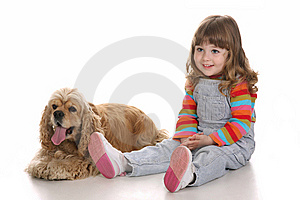 Girl And Dog Royalty Free Stock Images - Image: 8852339