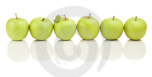 Six Apples Royalty Free Stock Photography - Image: 8854827