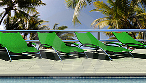 Sun Chairs Royalty Free Stock Image - Image: 8856086