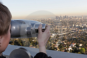 Girl Views Los Angeles Stock Photography - Image: 8856362