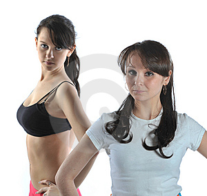 Two Sporting Girl Stock Photography - Image: 8857982