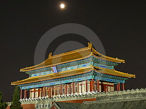 Forbidden City In Beijing At Night Stock Image - Image: 8860311