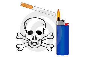 Cigarette Danger Royalty Free Stock Photos - Image: 8860668