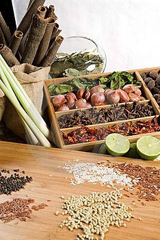 Fresh Herbs And Spices Royalty Free Stock Photography - Image: 8861827