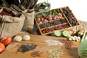 Fresh Herbs And Spices Stock Image - Image: 8861831