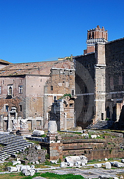 Augustus Forum In Rome (Italy) Stock Image - Image: 8863351