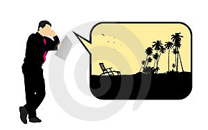 Businessman Dreaming About Summer Royalty Free Stock Photo - Image: 8866135