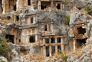 Rock Tombs, Myra, Turkey Royalty Free Stock Image - Image: 8868756