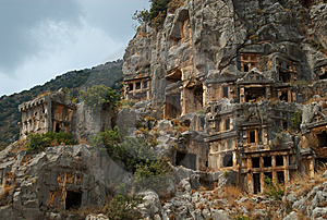 Rock Tombs, Myra, Turkey Royalty Free Stock Photos - Image: 8868928