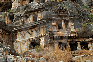 Rock Tombs, Myra, Turkey Royalty Free Stock Photo - Image: 8868985