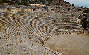 Greek Theater, Myra, Turkey Royalty Free Stock Photo - Image: 8869035