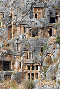 Rock Tombs, Myra, Turkey Stock Photo - Image: 8869090