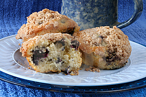 Blueberry Muffins With Coffee Royalty Free Stock Photography - Image: 8869187