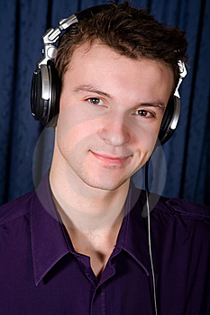 Portrait Of Young DJ Indoors Stock Image - Image: 8870781