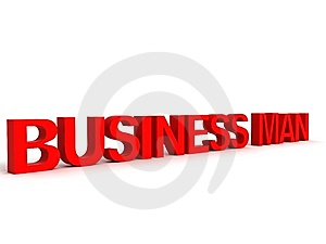 Three Dimensional Business Man Text Royalty Free Stock Photo - Image: 8871305