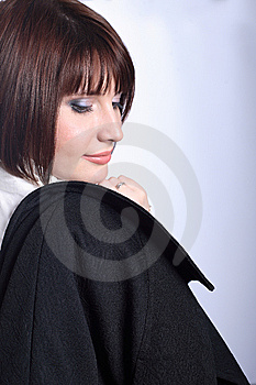 Businesswoman Looking Over Right Shoulder Royalty Free Stock Photography - Image: 8871417