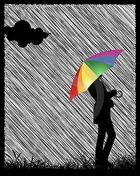 Girl With Umbrella Stock Image - Image: 8872961