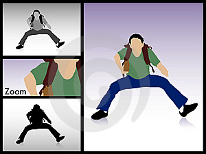 Jumping Male With Books Stock Photography - Image: 8874662