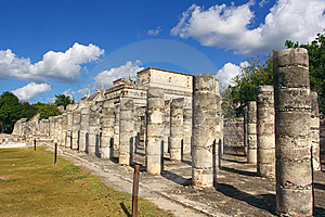 Group Of The Thousand Columns, Chichen-Itza Royalty Free Stock Photos - Image: 8874998