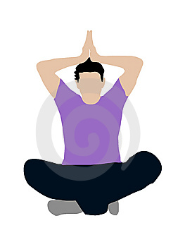 Meditating Pose Royalty Free Stock Photos - Image: 8875088