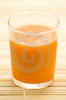 Fresh Carrot Juice And Mint Royalty Free Stock Photos - Image: 8875638