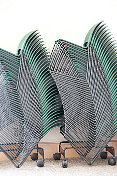Stacked Chairs Royalty Free Stock Images - Image: 8875759