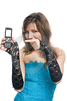 The Girl Suggests To Call By Phone Stock Photos - Image: 8876033