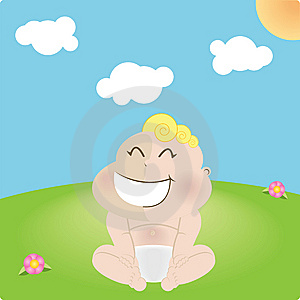 Laughing Blond Baby Royalty Free Stock Images - Image: 8876449