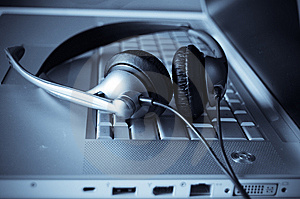 Close Up Of Keyboard And Headphones Royalty Free Stock Photo - Image: 8876535