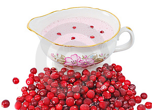 Cranberry Sauce In A Sauce-boat Royalty Free Stock Images - Image: 8876539