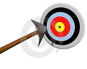 Target Hit By Arrow Stock Photography - Image: 8878502