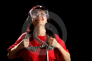 Young Woman With Chain Stock Image - Image: 8879071