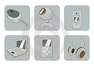 Gadgets Icons Stock Images - Image: 8879214