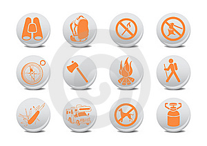Camping Buttons Royalty Free Stock Image - Image: 8879466