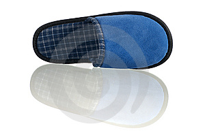 Blue Slipper Stock Photo - Image: 8880230