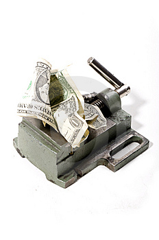 Dollar Under Pressure Stock Image - Image: 8880601
