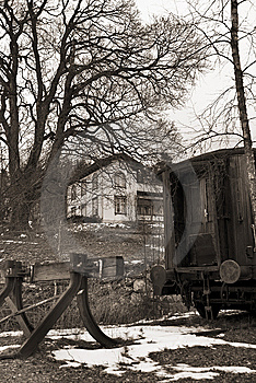 Retro Photo Of An Old Train Royalty Free Stock Images - Image: 8883759