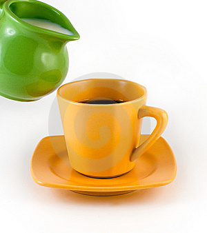 Milk And Coffee Stock Images - Image: 8886304