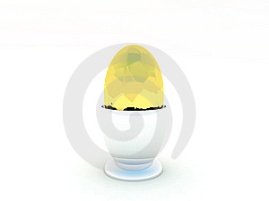 Single Golden Easter Egg Stock Images - Image: 8886624
