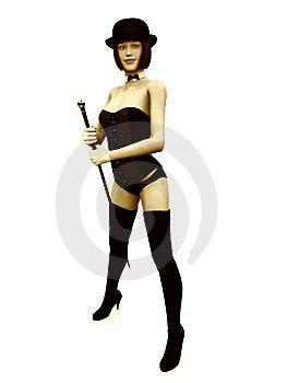 Cabaret Girl Royalty Free Stock Photos - Image: 8887588