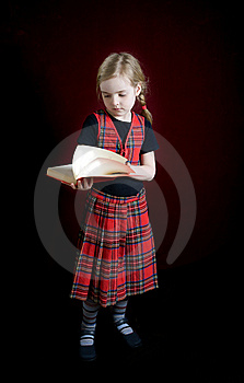 Serious  Schoolgirl Royalty Free Stock Photography - Image: 8888987