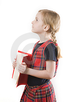 Schoolgirl And The Book Stock Photo - Image: 8889050