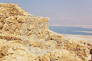 Dead Sea And Masada Ruins Royalty Free Stock Images - Image: 8889129