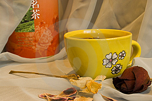 Cup Of Green Tea Stock Photos - Image: 8889133