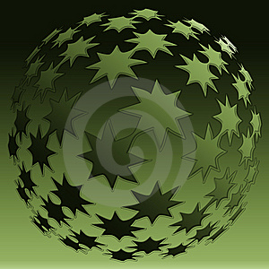 Star Sphere Royalty Free Stock Images - Image: 8889839