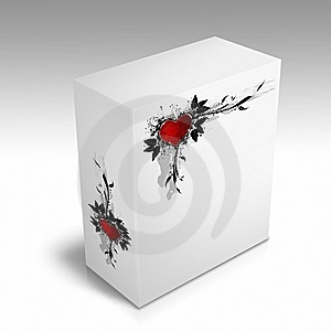 White Box With A Heart Design Royalty Free Stock Photos - Image: 8890108