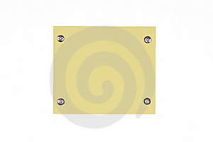 Yellow Note With Screws Stock Photography - Image: 8890292