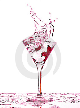 Fluid In A Glass Royalty Free Stock Image - Image: 8890496