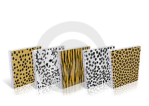 Notebook With Design Skin Of Wild Animals Stock Image - Image: 8890601